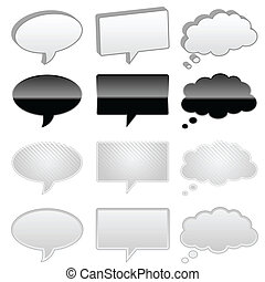 Talk and thought bubbles - Talk and thought cartoon bubbles ...