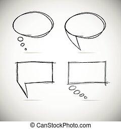 talk, blasen, skizze, drawing.