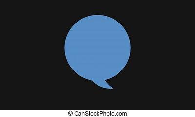 Talk box icon, Video Animation HD1080