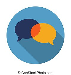 Talk bubble chat icon. Trendy flat style for graphic design, web-site. Stock Vector illustration.