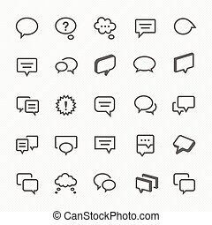 Talk bubble icons