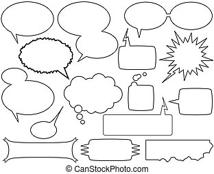 talk bubbles - comic book style talk bubbles and boxes