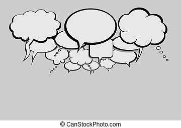 Talk bubbles for social network