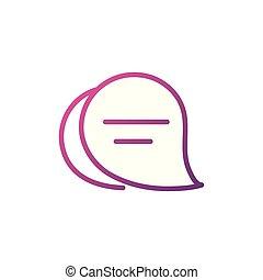 talk bubbles network social media icon line