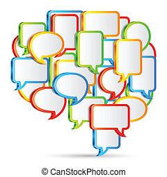 Talk bubbles. - Big talk bubble made from small talk...