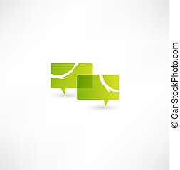 Talk concept speech bubbles icon