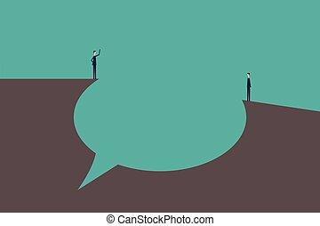 Talk concept speech bubbles Vector Illustration