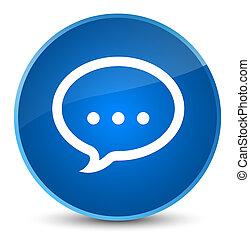 Talk icon elegant blue round button