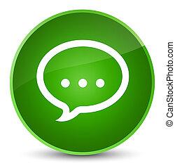 Talk icon elegant green round button