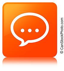 Talk icon orange square button
