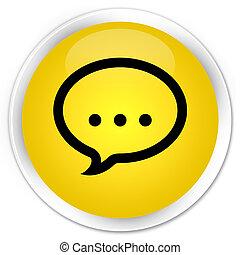 Talk icon premium yellow round button