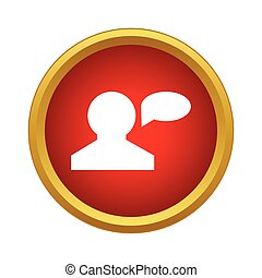 Talk icon, simple style - Talk icon in simple style isolated...