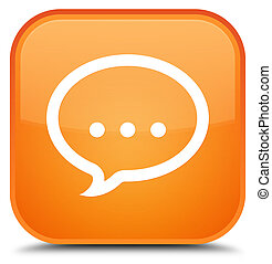 Talk icon special orange square button