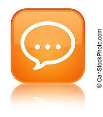 Talk icon special orange square button