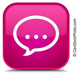 Talk icon special pink square button
