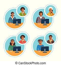 talk, kunde, telefonanruf, agent, zentrieren