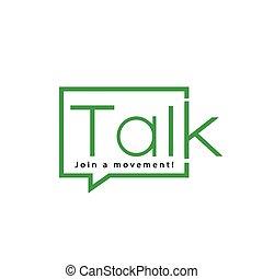 Talk Logo Text template. logo vector element