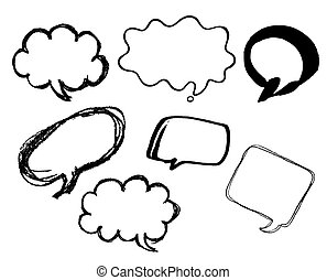 Talk, speech and thought bubbles and balloons