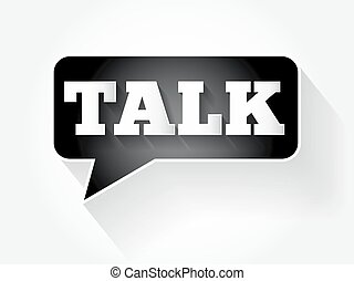 Talk text message bubble