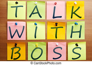 Talk with boss reminder