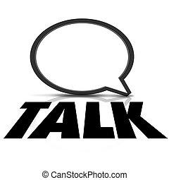 Talk Word 3d Speech Bubble Communication