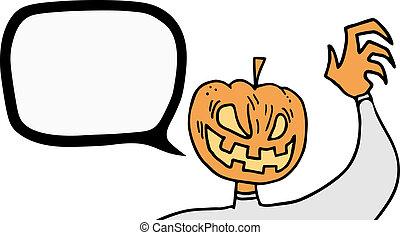 Talkative pumpkin