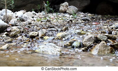 Talkative through noise of water stream - small stream...