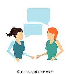 talking, речь, пузырь, женщины