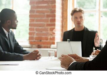talking, серьезный, встреча, businessmen, suits