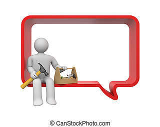 Talking about maintenance - Communication concept. Isolated...