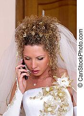 Talking bride