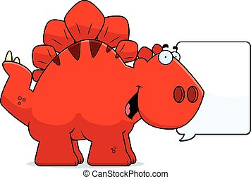 Talking Cartoon Stegosaurus