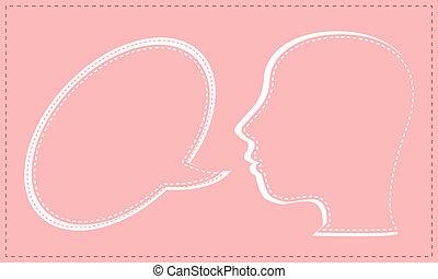 Talking head with Speech bubble