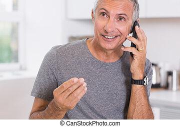 Talking man on the phone