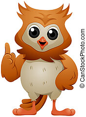 Talking Owl - Talking and Gesturing Owl with Clipping Path