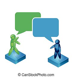 Talking people icon. two people