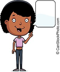Talking Teen Girl - A cartoon illustration of a teenage girl...