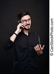 Talking to client by phone