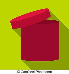 Tall box icon, flat style