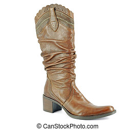 tall brown cowboy boot