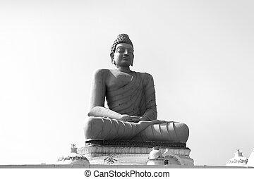 Tall Buddha statue in Andhra Pradesh state new capital Amaravati in India