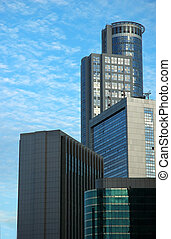 Tall building - Group of tall buildings on dramatic sky...