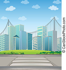 Tall buildings in the city - Illustration of the tall...