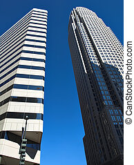Two tall buildings in Charlotte North Carolina