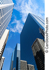 Tall Corporate Buildings - Tall corporate skyscrapers rise...