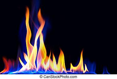 fire - tall dancing flames of fire