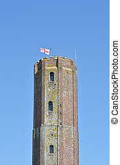 Tall English Castle Tower