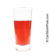 Tall glass of juice isolated