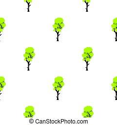 Tall green tree pattern flat