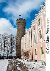 Tall Hermann tower or Pikk Hermann in Tallinn